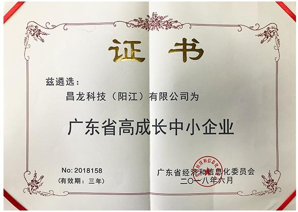 广东省高成长中小企业